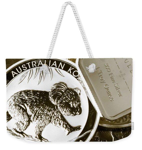 999 Silver Mint Weekender Tote Bag