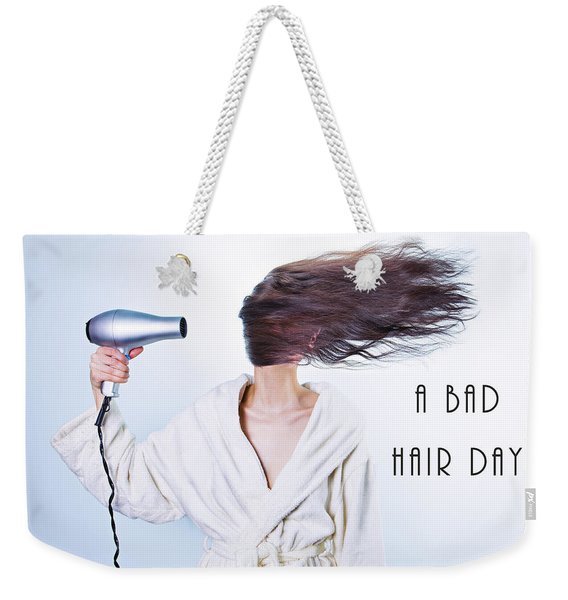 A Bad Hair Day Weekender Tote Bag
