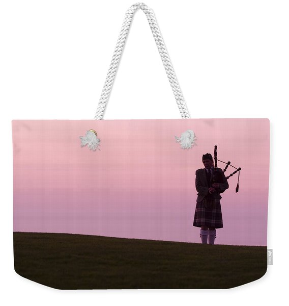 A Bagpiper On A Golf Course Weekender Tote Bag