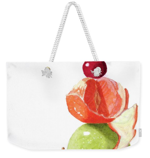Weekender Tote Bag featuring the painting A Balanced Meal by Rich Stedman
