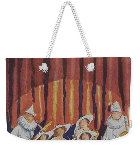 A Band On Stage Playing Charles Gerard Conn Saxophones Weekender Tote Bag