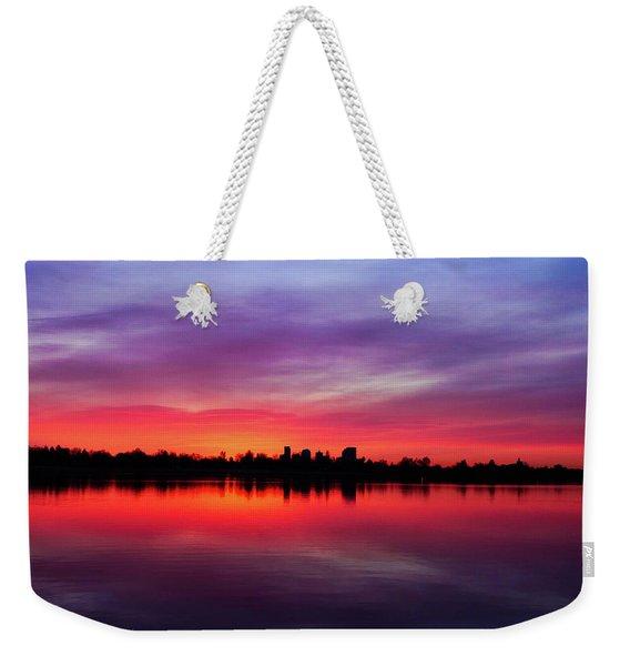 Sunrise At Sloan's Lake Weekender Tote Bag