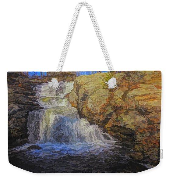 A Beautiful Connecticut Waterfall. Weekender Tote Bag