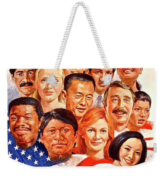 Weekender Tote Bag featuring the painting A Beautiful Day In The Neighborhood  by Cliff Spohn
