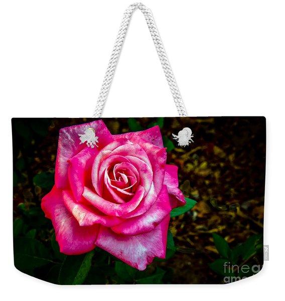 A Bicolor Rose Weekender Tote Bag