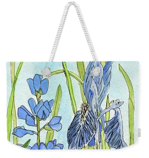 A Blue Garden Weekender Tote Bag