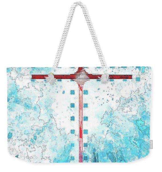 A Blue Sky Weekender Tote Bag