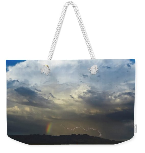 A Bolt Of Lightning And A Rainbow Weekender Tote Bag