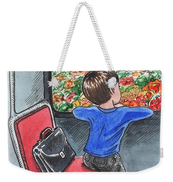 A Boy On The Bus Weekender Tote Bag