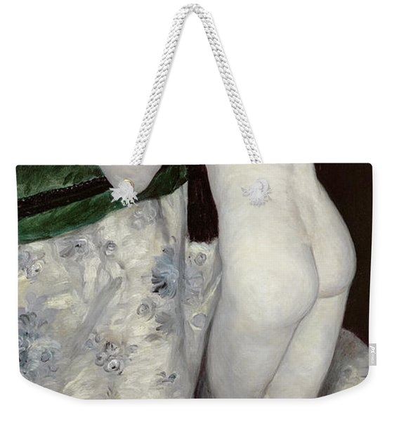 A Boy With A Cat Weekender Tote Bag
