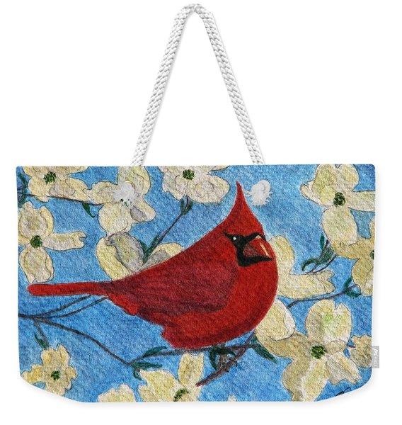 A Cardinal Spring Weekender Tote Bag