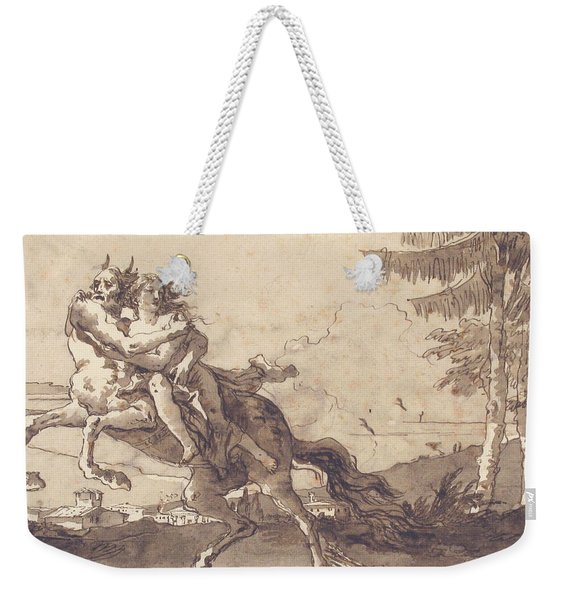 A Centaur Abducting A Nymph Weekender Tote Bag