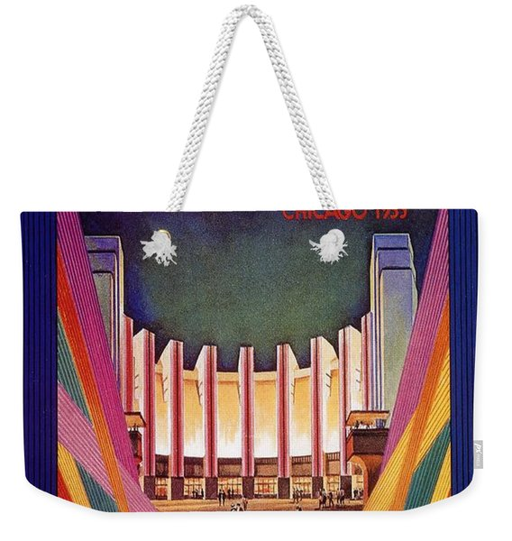 A Century Of Progress - Vintage Exposition Poster - Chicago Weekender Tote Bag