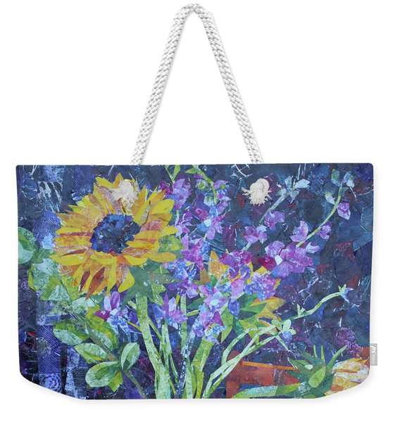 A Chair To View Sunflowers Weekender Tote Bag