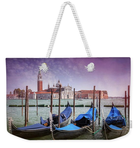 A Classic View Of Venice Italy  Weekender Tote Bag