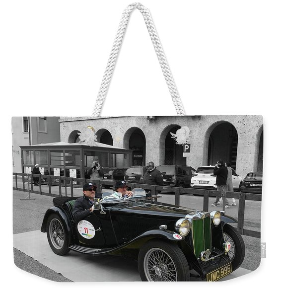A Classic Vintage British Mg Car Weekender Tote Bag