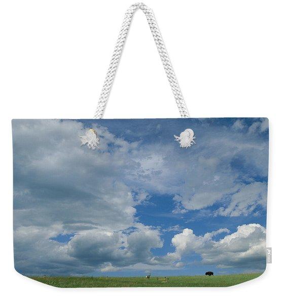 A Cloud-filled Sky Over Pronghorns Weekender Tote Bag