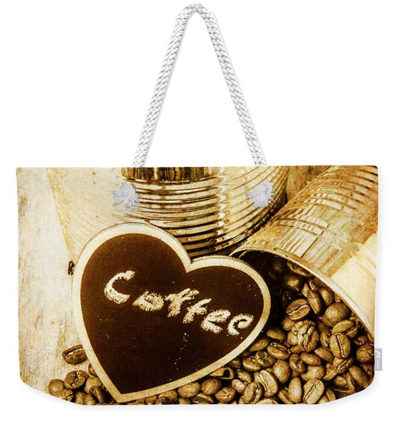 A Coffeehouse Romance Weekender Tote Bag