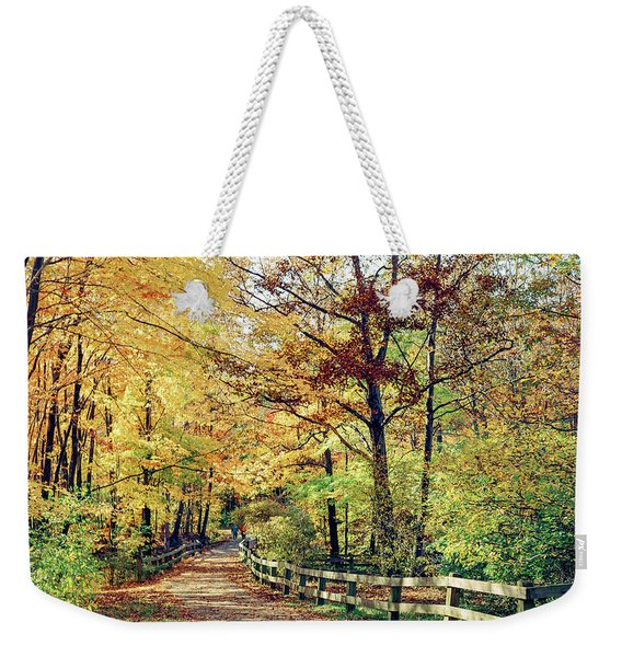 A Colorful Walk Weekender Tote Bag
