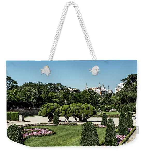 Weekender Tote Bag featuring the photograph Colorfull El Retiro Park by Arik Baltinester
