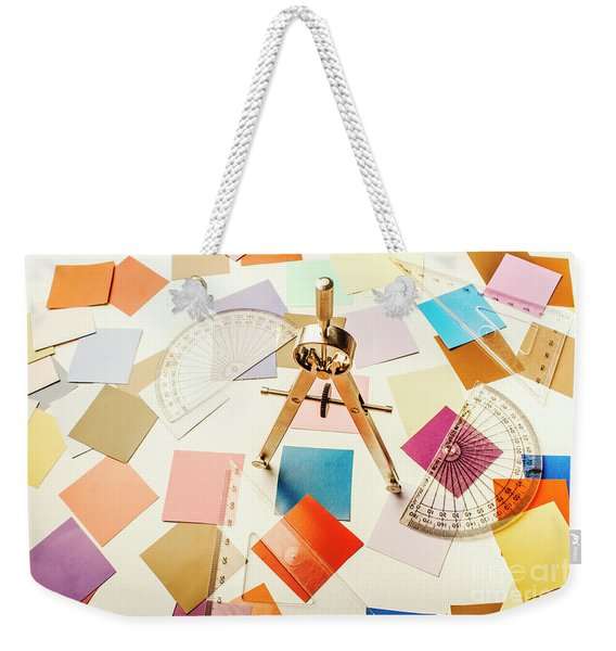 A Colourful Blueprint Weekender Tote Bag