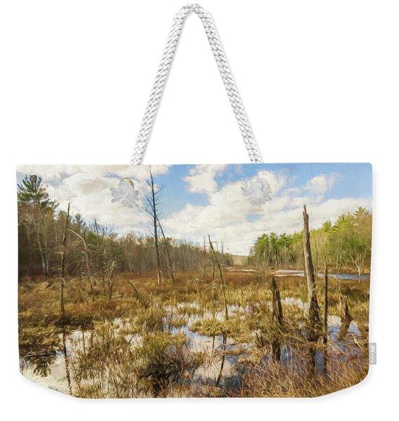 A Connecticut Marsh Weekender Tote Bag