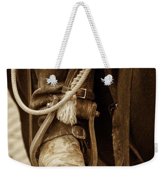 A Cowboy's Boot Weekender Tote Bag