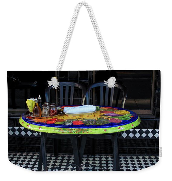 A Cozy Table For Two Weekender Tote Bag