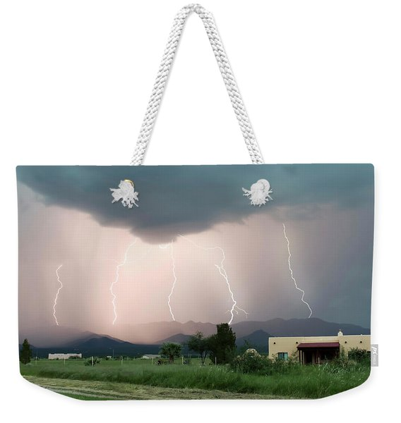 A Dance Of Five Lightning Bolts In The Mountains Weekender Tote Bag