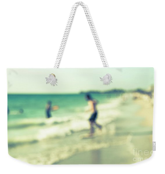a day at the beach III Weekender Tote Bag