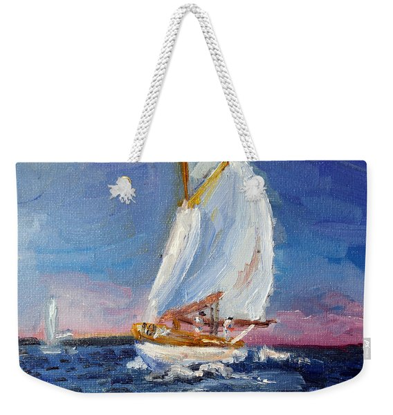 A Day On A Boat Is..... Weekender Tote Bag