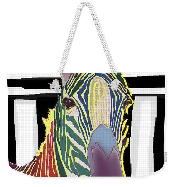 A Different Zebra Weekender Tote Bag