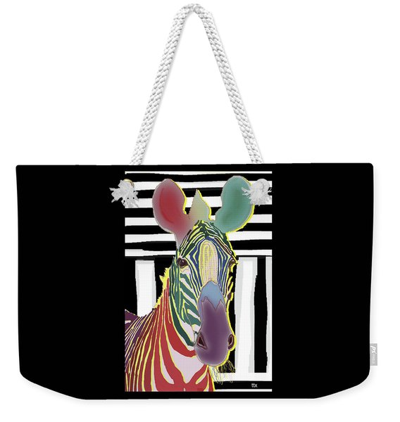 A Different Zebra Weekender Tote Bag