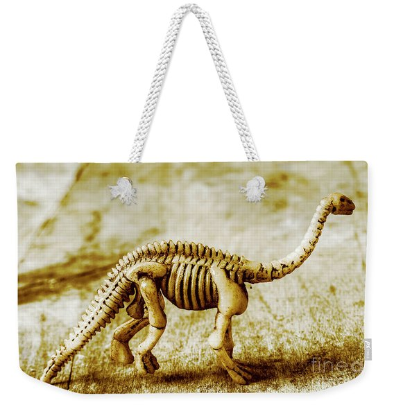 A Diploducus Bone Display Weekender Tote Bag
