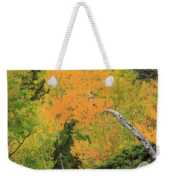 Yellow Drop Weekender Tote Bag