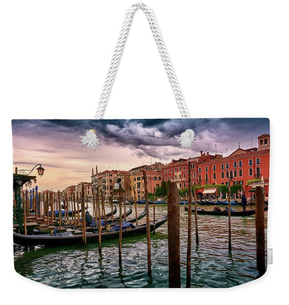 Surreal Seascape On The Grand Canal In Venice, Italy Weekender Tote Bag