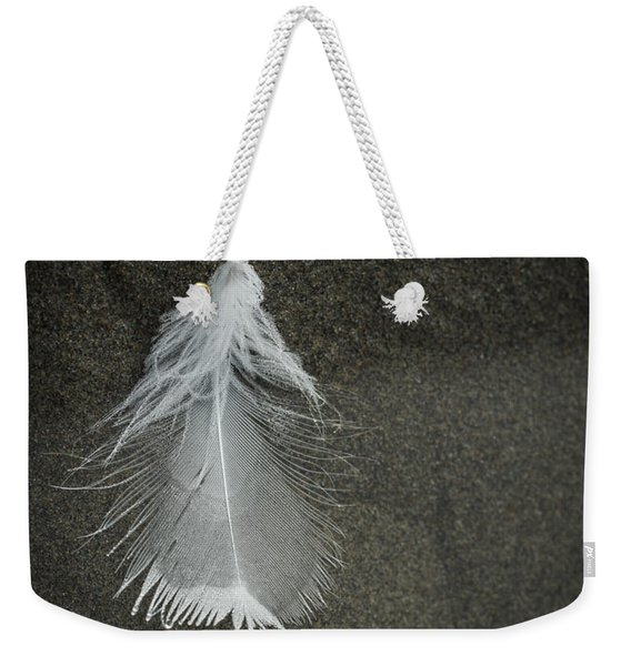 A Feather At The Edge Of The Water Weekender Tote Bag