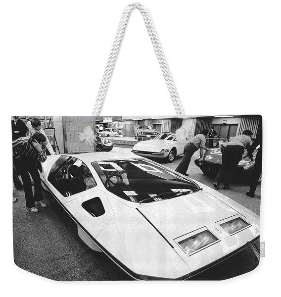 A Ferrari Modulo At Auto Show Weekender Tote Bag