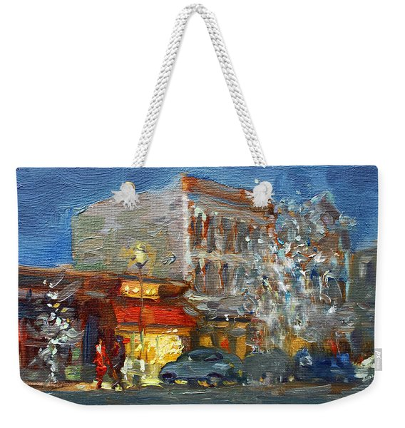 A Festive Atmosphere In Tonawanda Weekender Tote Bag