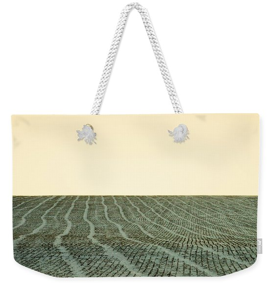 A Field Stitched Weekender Tote Bag
