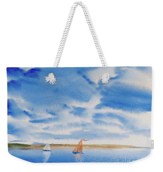 A Fine Sailing Breeze On The River Derwent Weekender Tote Bag