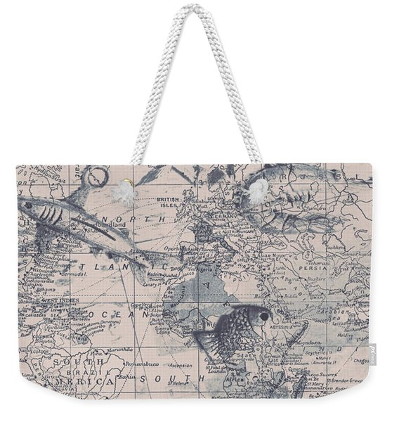 A Fishermans Map Weekender Tote Bag