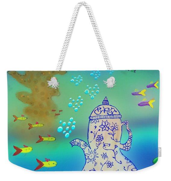A Fishy Tea Pot Weekender Tote Bag