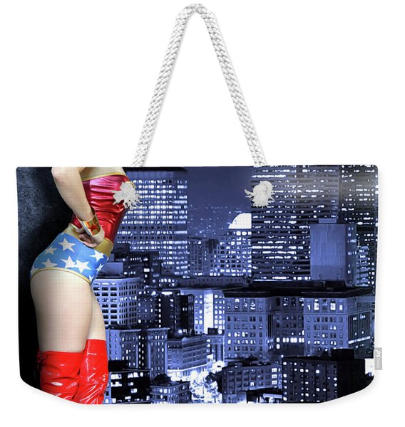 A Flag In The Night Weekender Tote Bag