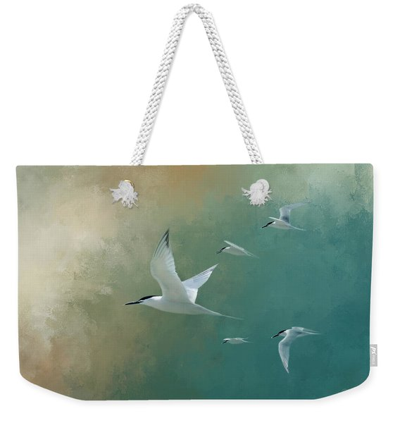 A Flight Of Terns Weekender Tote Bag