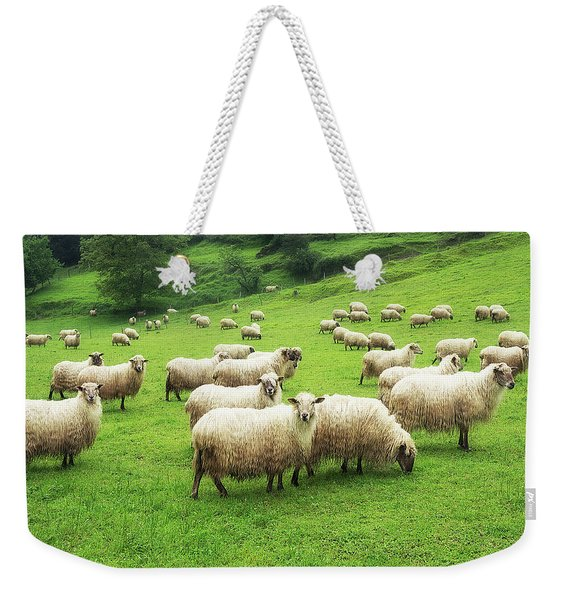 A Flock Of Sheep Weekender Tote Bag