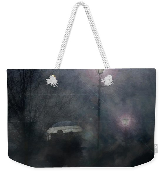A Foggy Night Romance Weekender Tote Bag