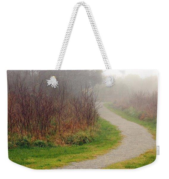 A Foggy Path Weekender Tote Bag