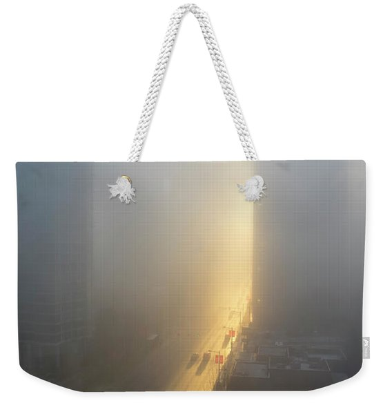 A Foggy Start To The Day In Vancouver Weekender Tote Bag