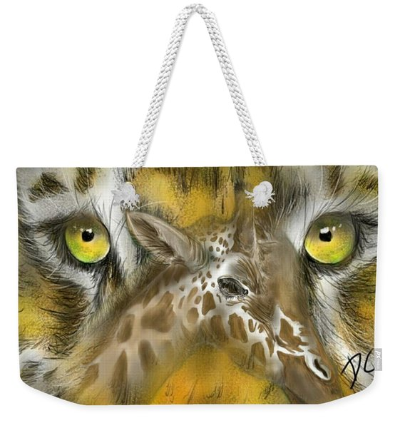A Friend For Lunch Weekender Tote Bag